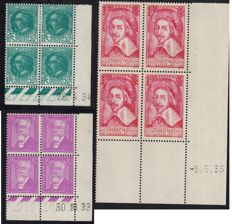 France 1930 – dated corners – Yvert 291/2 and 305