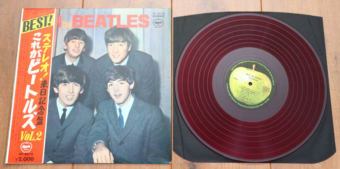 The Beatles With Lp 2nd Japanese Pressing 1st On Apple