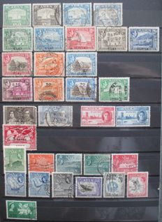 British Commonwealth - collection on stock pages.