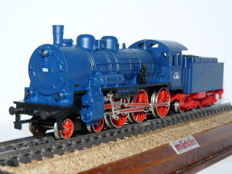 Märklin H0 - 3091 - Steam locomotive with towed tender P8 Baden, in blue livery