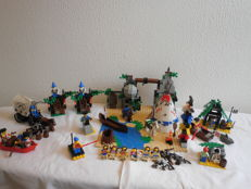 Pirates / Western / Castle - 9 sets incl. 6748 + 6716 - Boulder Cliff Canyon + Covered Wagon