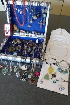 Lot Sterling Silver and costume jewelry