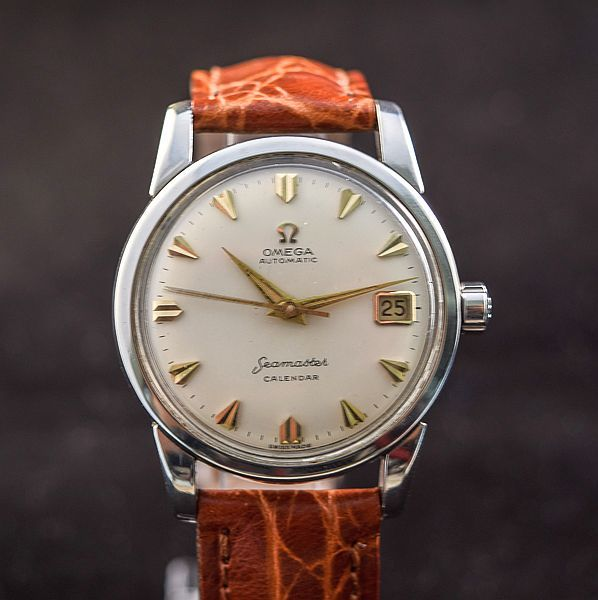 Omega Seamaster-kalender-1950/60s-staal-automatische