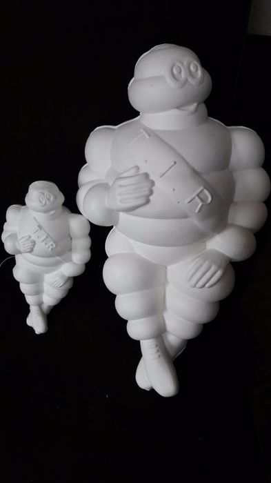 Bebe Bibendum michelin bibendum - 'father' and 'son' figures in plastic with 12v