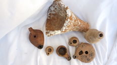 Roman terracotta objects - 7 items from 5 to 21 cm
