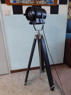 Coemar - theatre light - on a wooden/steel tripod, converted