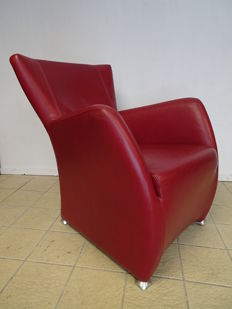 Unknown manufacturer – red leather armchair