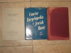 Judaica;  Lot with 3 books about Jewish music - 1929 / 1975