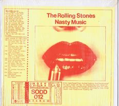 Rolling Stones - 2LP-set Nasty Music ( Singer's Original Double Disk SODD 012)) USA 1977 (live Belgium, UK and USA) unofficial Fanclub double album.