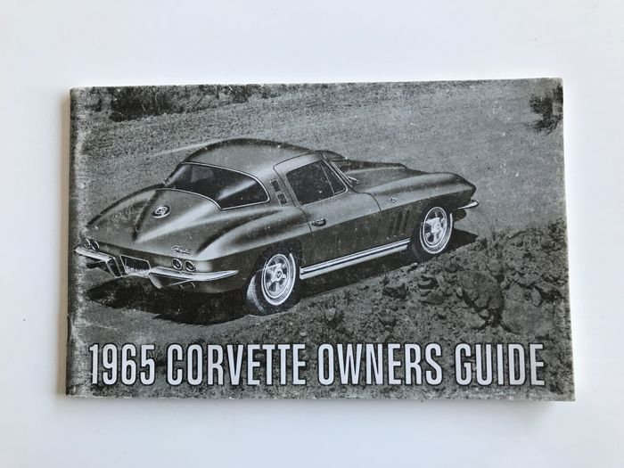 Chevrolet Corvette C2 Sting Ray Original Owner Manual First Edition