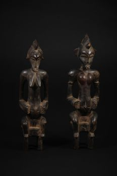 Couple of Statues - SENOUFO - Ivory Coast