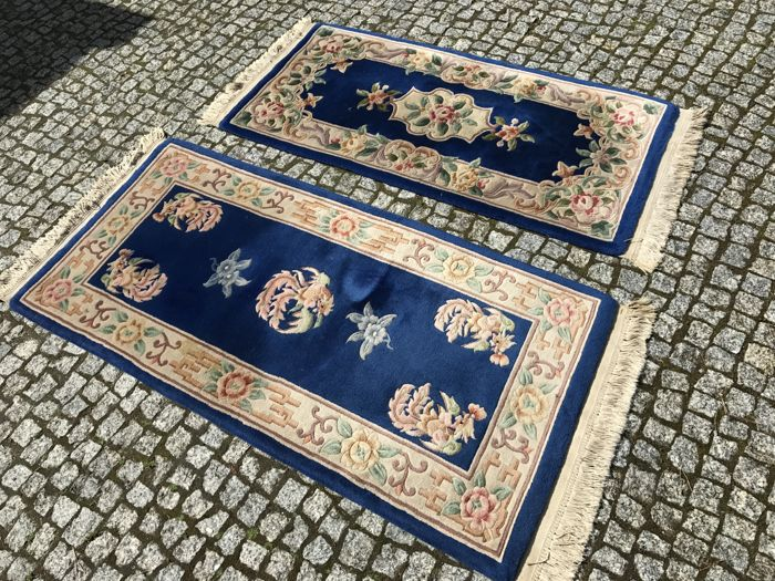 2 HAND MADE CHINA RUG  175x77  AND 160x70cm