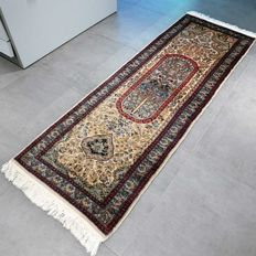 Magnificent Kashmir Ghom runner - 190 x 65 - Luxurious appearance