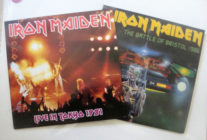 Lot of 2 Live albums of  Iron Maiden – 2 LP The Battle of Bristol Somewhere on Tour 1986 2 LP + Tour Book / 2 LP  Live In Tokyo 1981