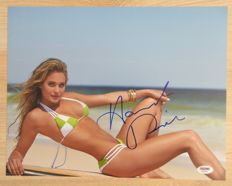 Signed; Hannah Davis - Victoria's Secret model and sports illustrated swimsuit cover model - 2015