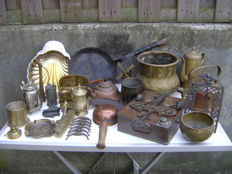 Collection of copper objects.