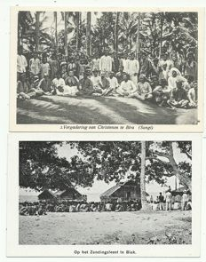 Lot of postcards, Dutch Indies, 68 x