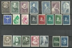 The Netherlands 1933/1939 – Selection of series and stamps