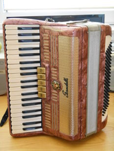 Scandalli accordion, complete with shaped case