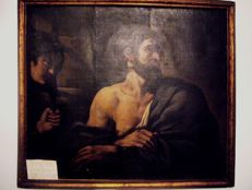 Oil on canvas by the Guercino school
