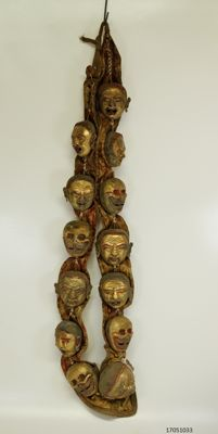 Lama necklace with gold plated heads – Nepal – 2nd half of the 20th century