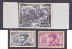 France 1934/1950 – Yvert #296, 297 and P.A. 29B
