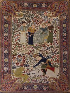HIGHLIGHT - luxurious Persian carpet, Tabriz, 182 cm x 136 cm