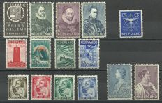 The Netherlands 1933/1935 – selection of series and stamp.