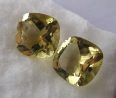 Lemon Quartz Matching Pair – 23.30 ct