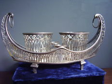 1st title silver oil cruet - France, Paris, 1797