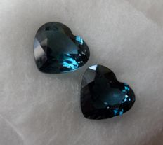 London Topaz Matching Pair – 3.79 ct – No Reserve