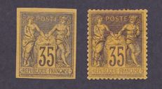 France and Colony 1878 – Yvert no. 93 and Colony no. 45