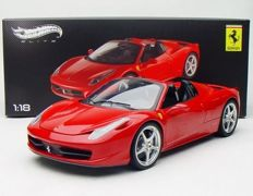Hot Wheels Elite - Scale 1/18 - Ferrari 458 Spider - Red