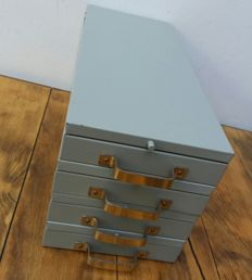 Decorative Dutch bank safes - 4 deposit boxes
