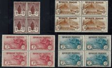 France 1930 - Orphans in blocks of four - Complete series - Yvert 229 to 232