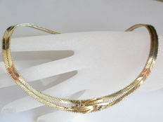 Enchanting necklace in 835 silver with gold – 37 g