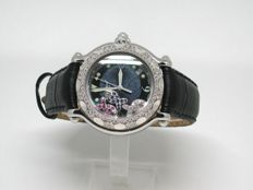 Chopard Happy Fish - ladies watch - 43mm - set with diamonds 1,20ct. - ca 2010-2014