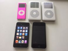 Lot of 3 Apple iPod Classic 2x20+16+4 GB and iPhone 3GS 16GB black