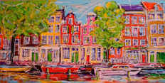 Mathias - Canal of Amsterdam, houses and boats