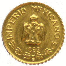 Mexico – Medal Maximiliano 1865 – gold