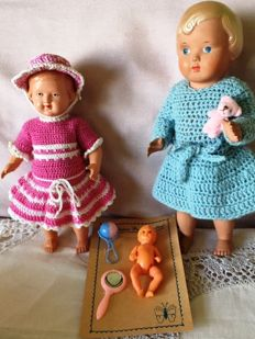 Antique celluloid dolls - Germany and Denmark