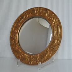 Architecture Decoration – Butler mirror with animal frame / zodiac decoration of gold-plated opper
