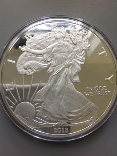 4 oz 999/1000 silver Eagle with Box &   - year 2013 Freshly minted - 124.4 grams