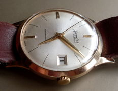 Swiss Accurist - 9 kt gold men's wristwatch - 1960s