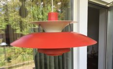 Poul Henningsen for Louis Poulsen -  PH 5 pendant lamp light in red