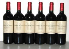 2010 Marquis de Mons, Margaux - lot of 6 bottles