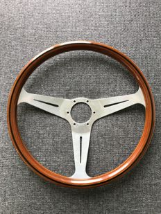 Original NARDI wooden steering wheel - 390 mm - Made in Italy