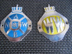 Two ANWB and Wegenwacht shields - 1960s