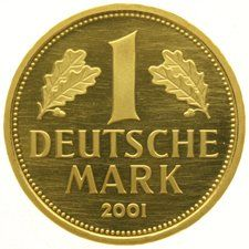 "Duitsland - 1 Mark 2001F  "" Retirement of the mark Currency ""  goud"