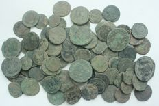 Roman Empire - lot of 100 AE coins, 1st - 4th century AD